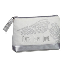 Angel Wings Cosmetic Bag - Faith