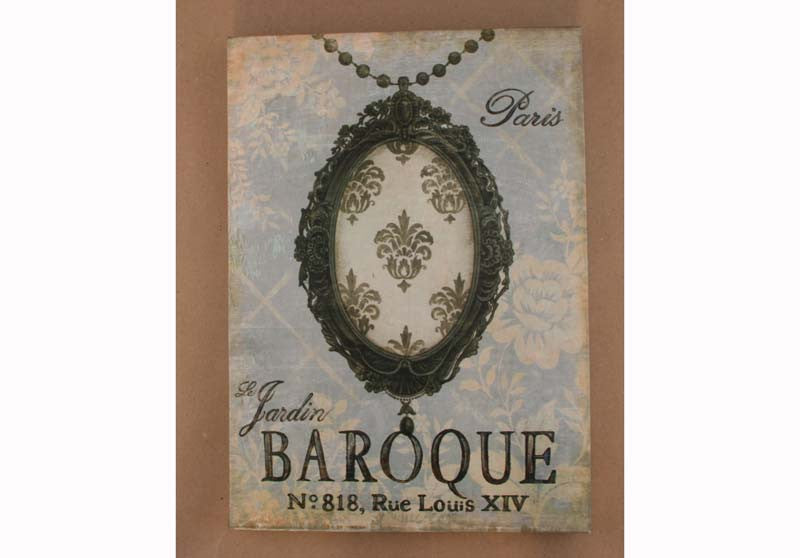 Canvas Print Paris Motif Baroque