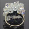 Crystal Ring Adjustable Aurora Borealis
