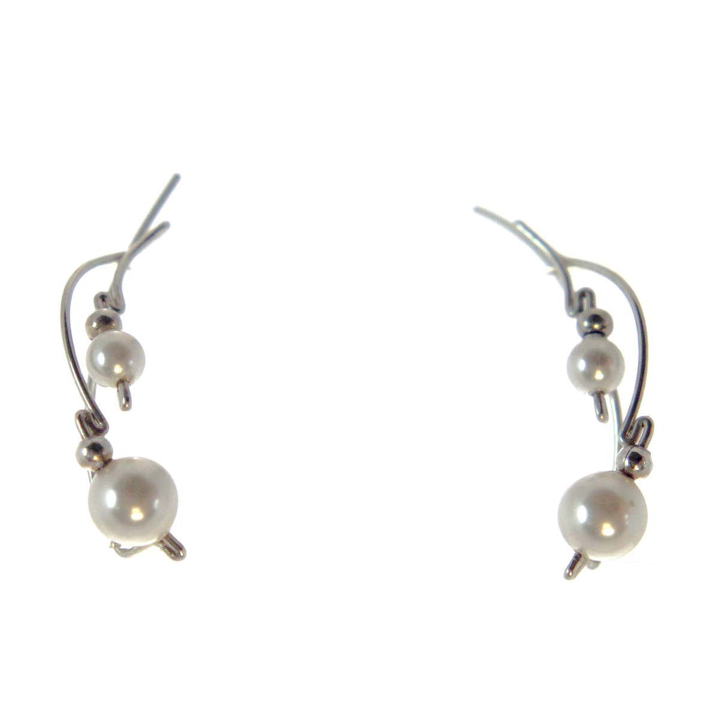 Ear Vine Pearls Sterling Silver