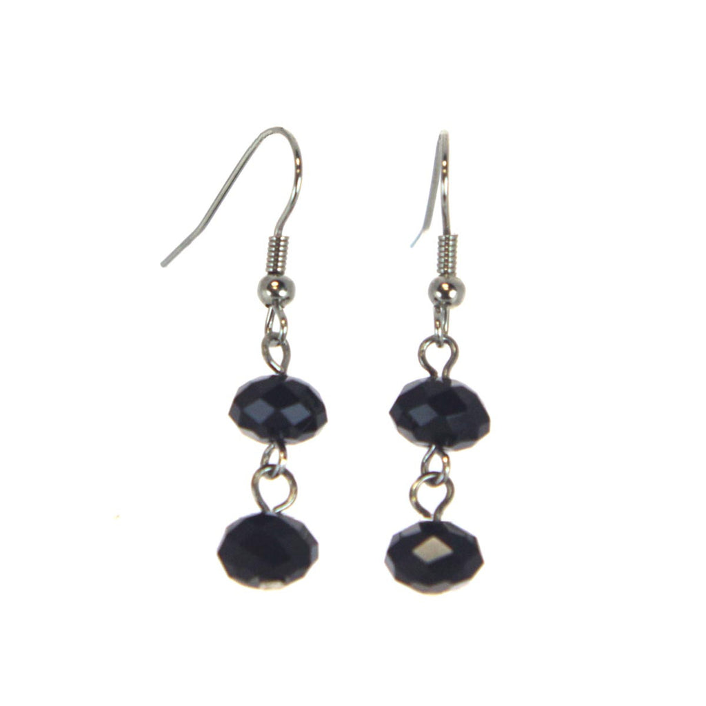 Love Match Earrings - Drop Jet