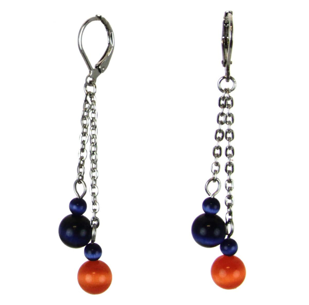 Earrings Cat Eyes Beaded