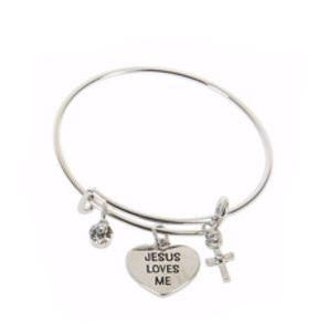 Le Petite Dangle Bangle - Jesus Loves Me