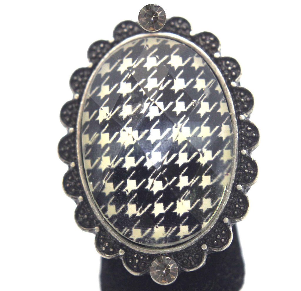Houndstooth Ring Stretch