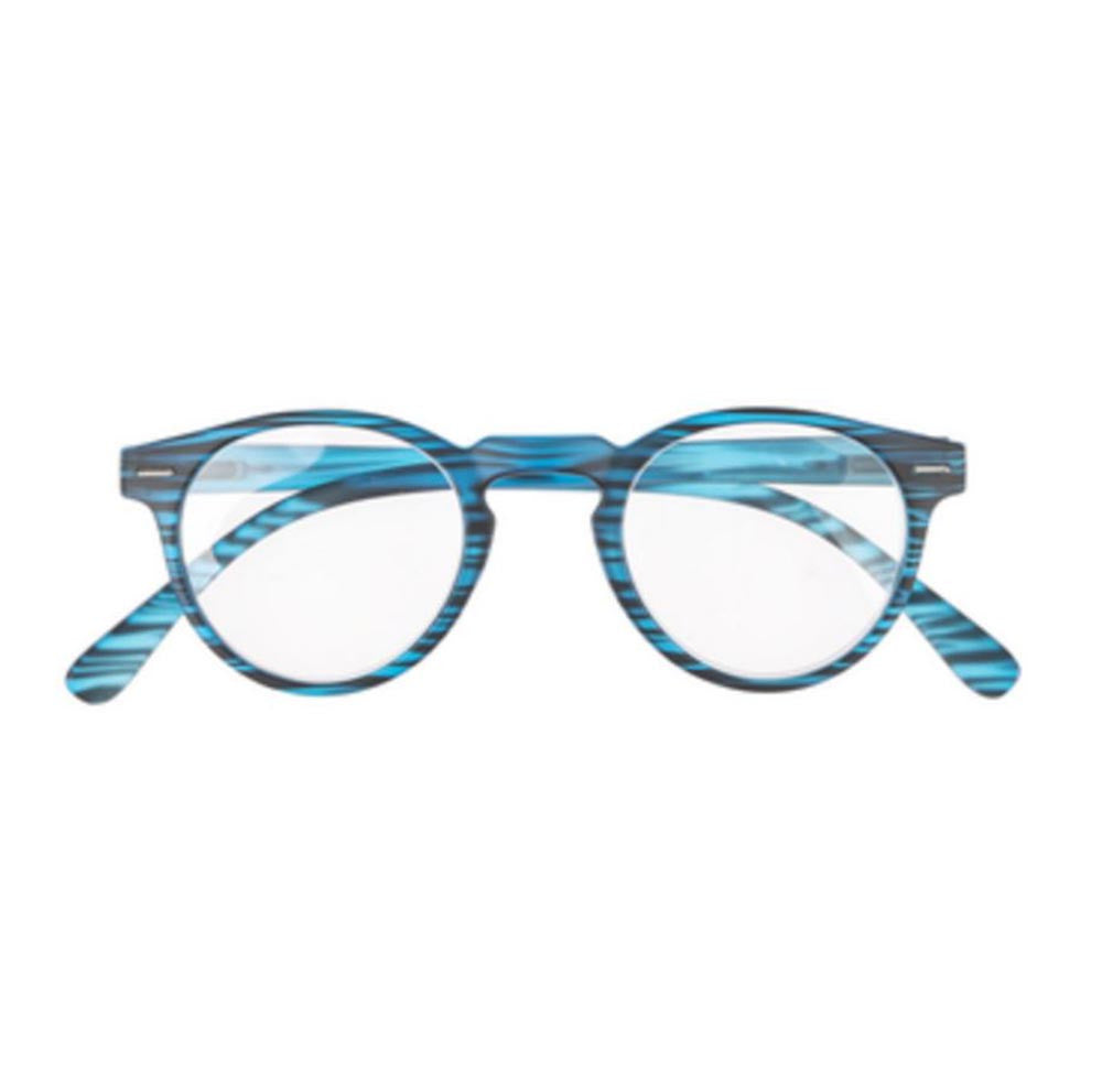 +2.00 Stripes Pattern Readers - Blue