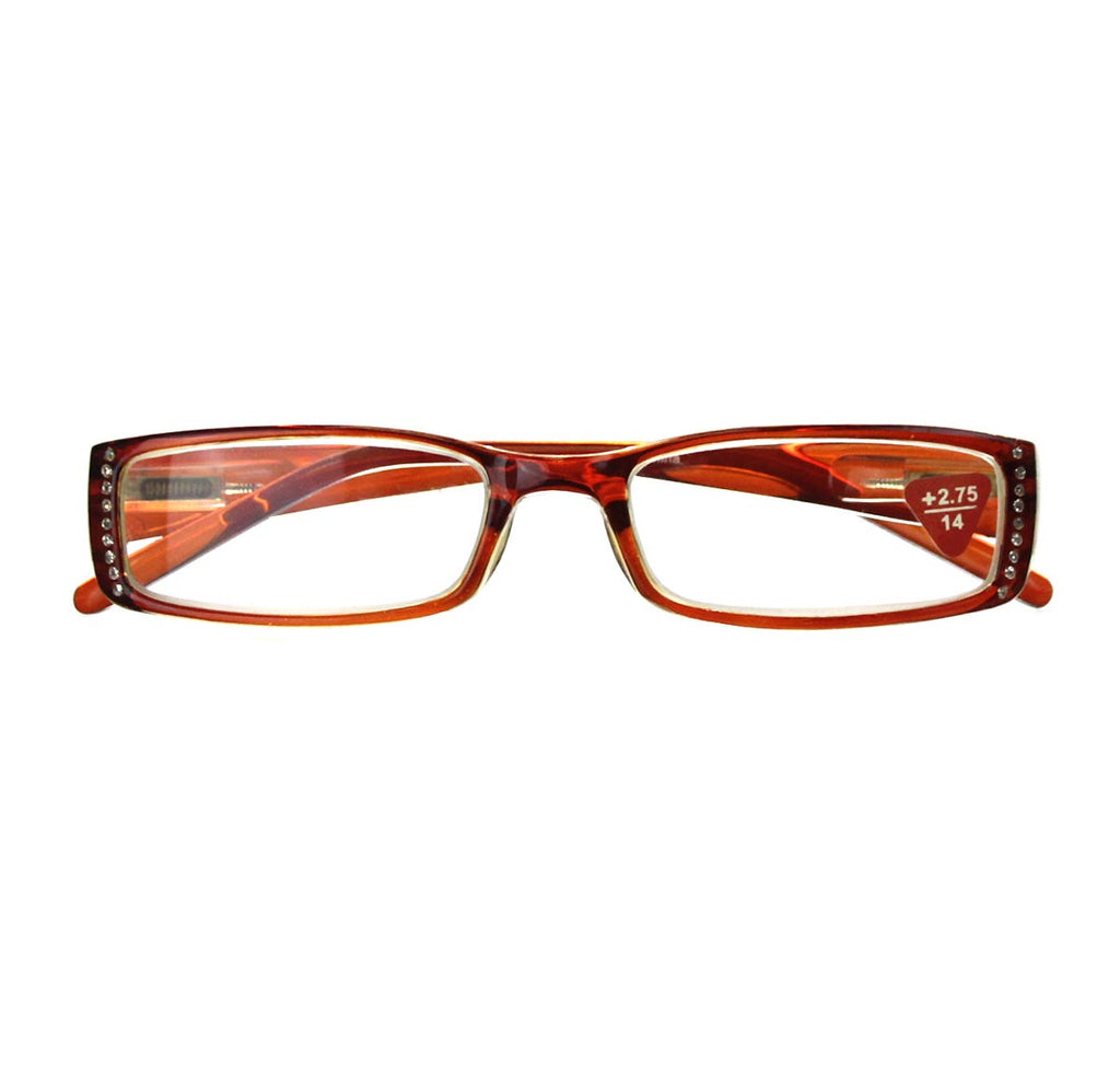 +2.75 Reading Glasses Orange