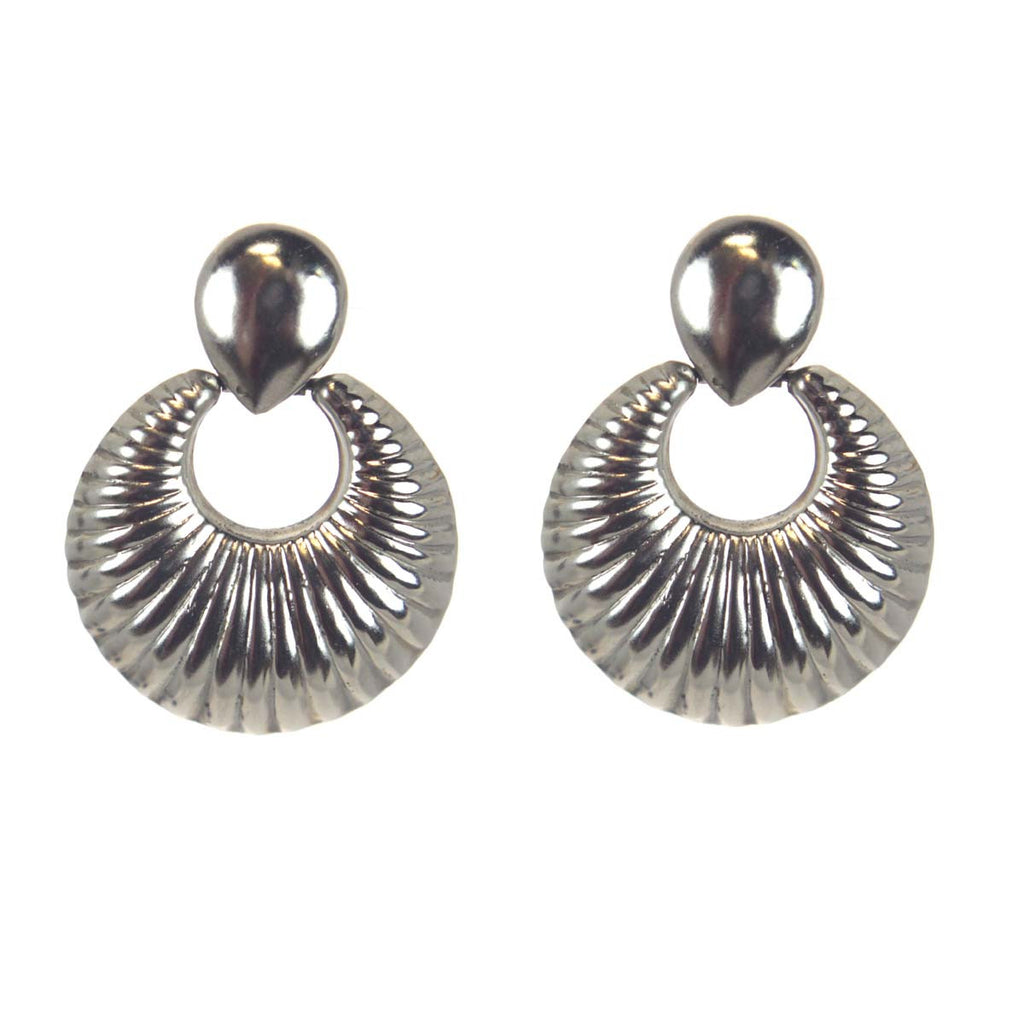Scalloped Sterling Silvers Earrings