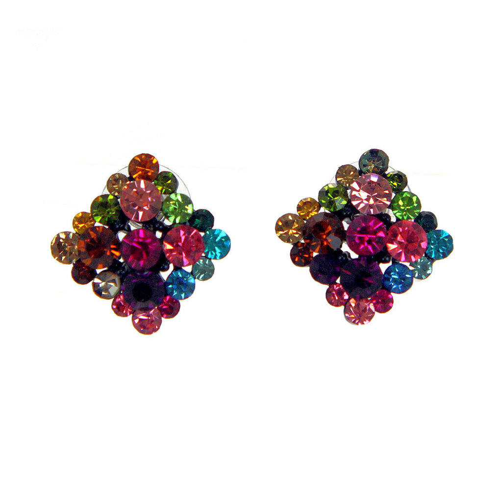 Multi Colored Square Earrings