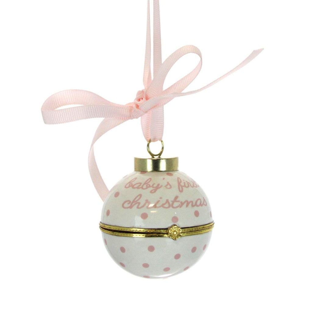 Baby's First Christmas Time Capsule Ornament - Pink