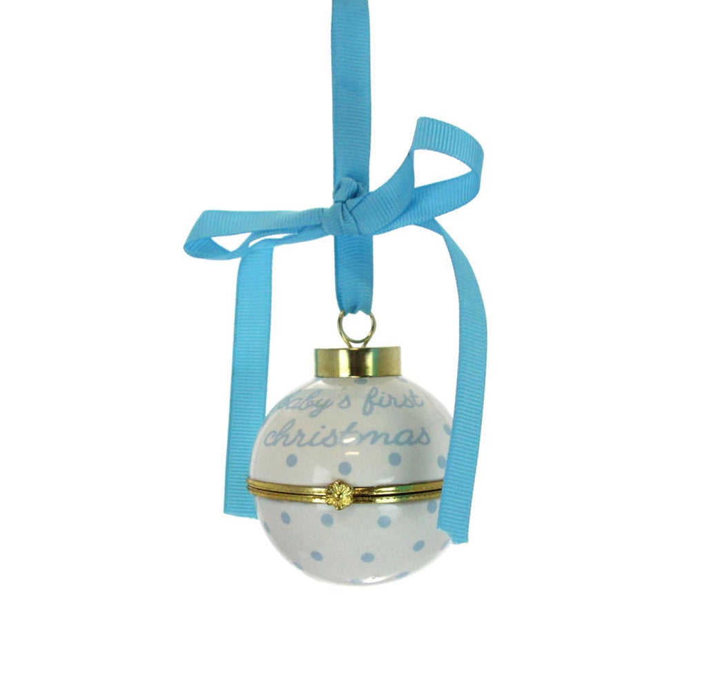 Baby's First Christmas Time Capsule Ornament - Blue