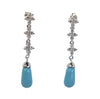 Sterling Silver Turquoise & CZ Drop Earrings