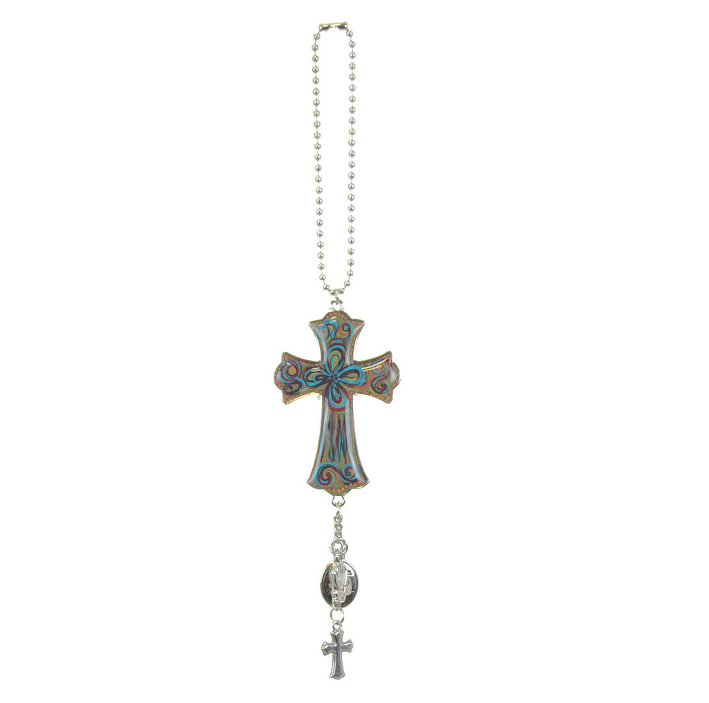 Car Charm - Cross Bless and Protect Us