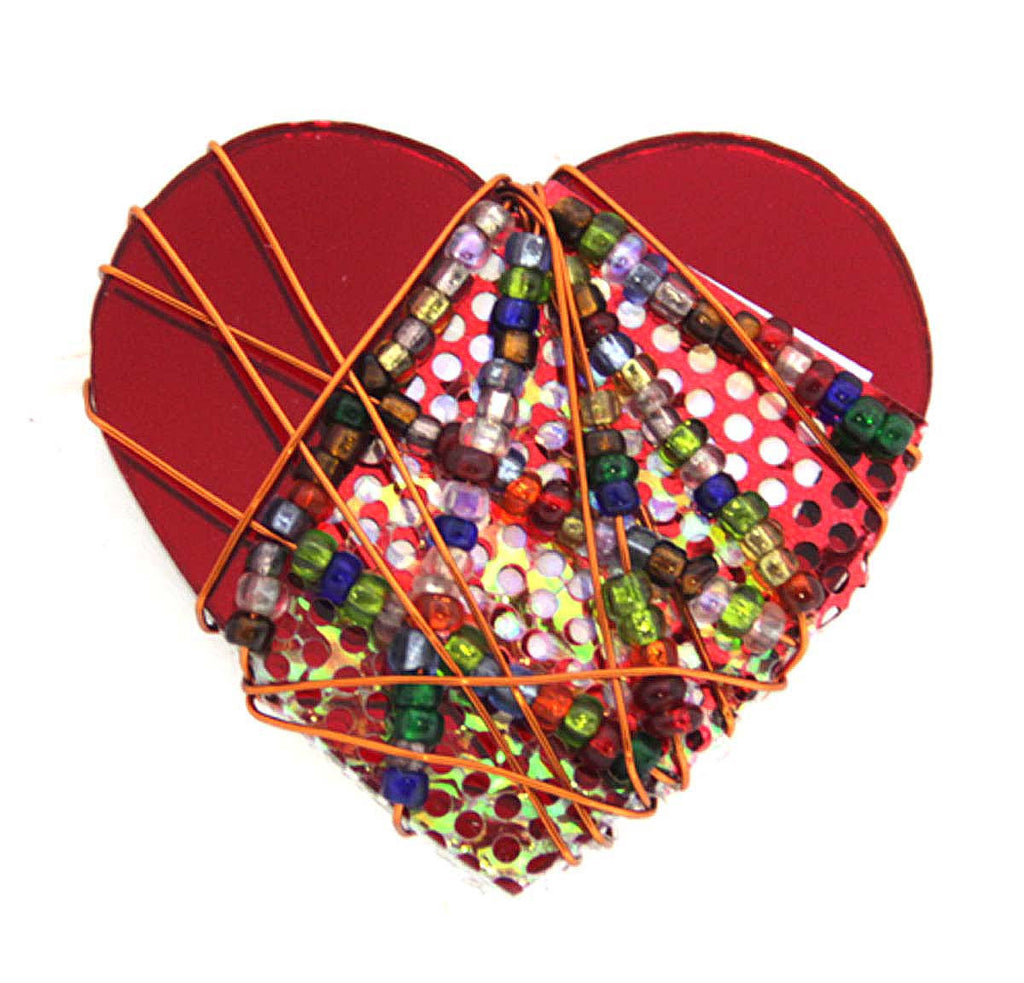Heart Beaded Pin by Bently