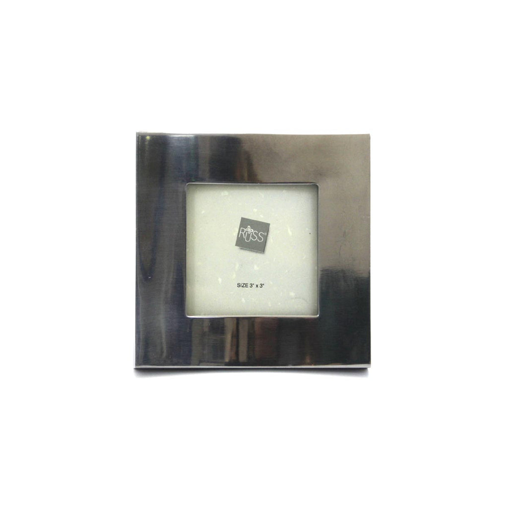 Brushed Silvertone Square Picture Frame