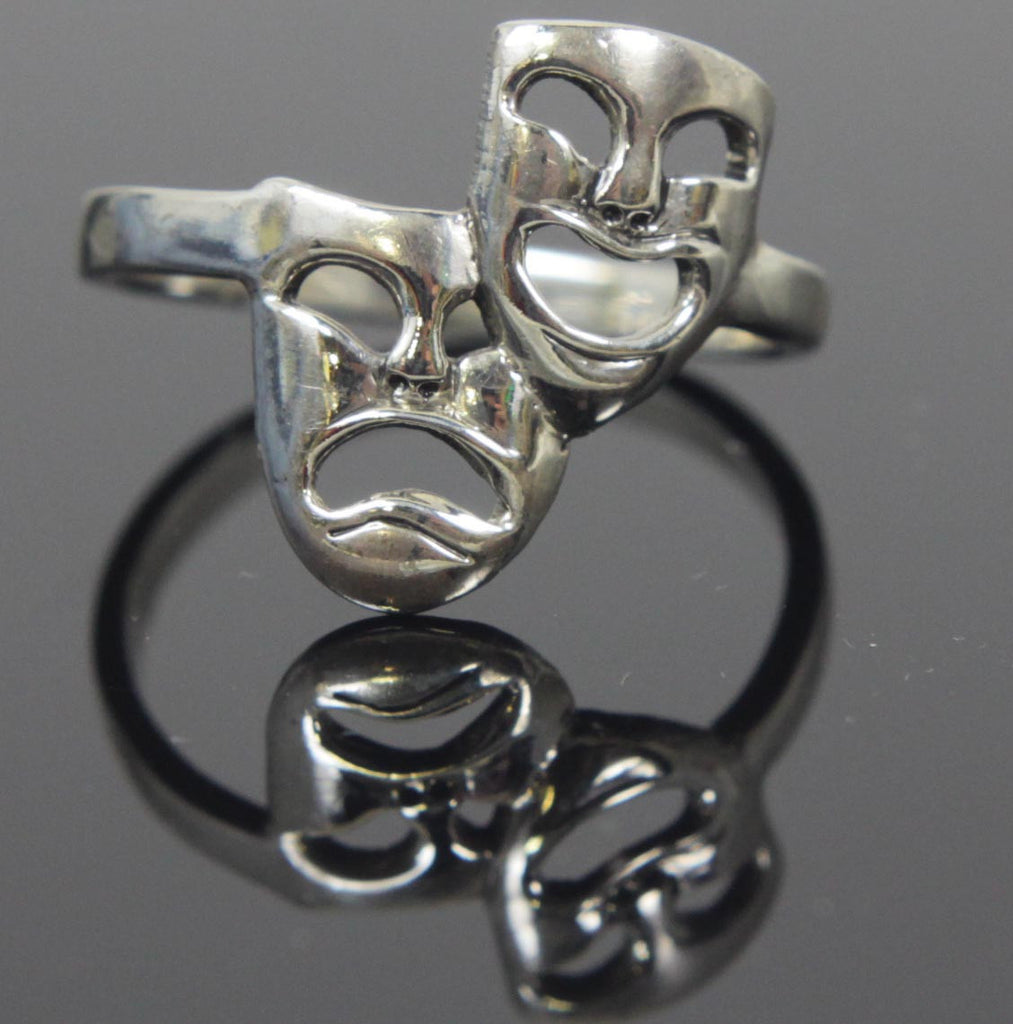 Comedy & Tragedy Sterling Silver Size 5.5