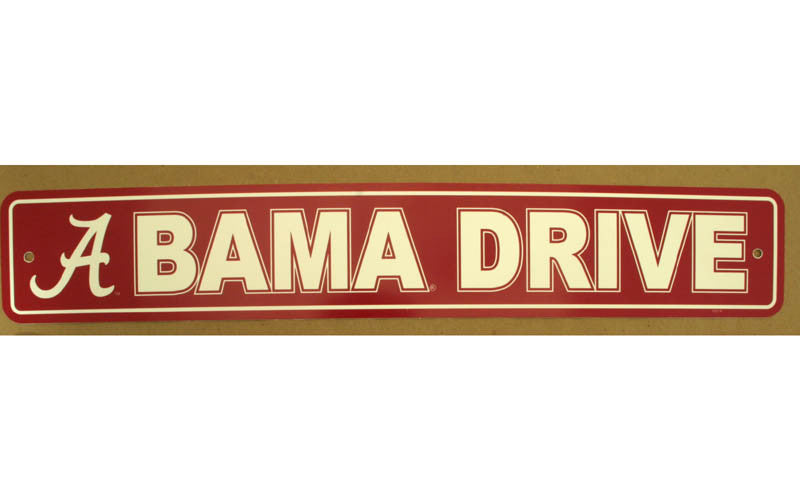 University of Alabama Street Sign
