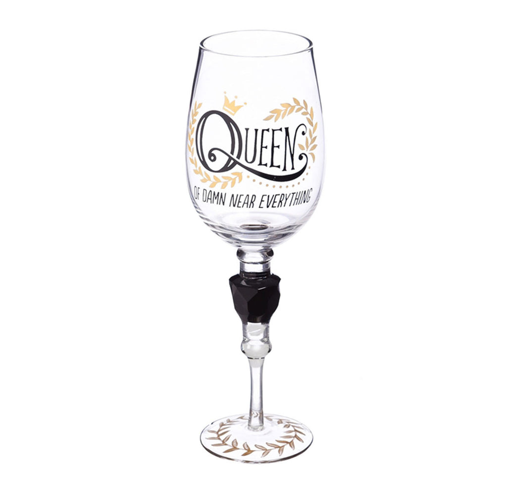 Wine Stem with Jewel - Queen