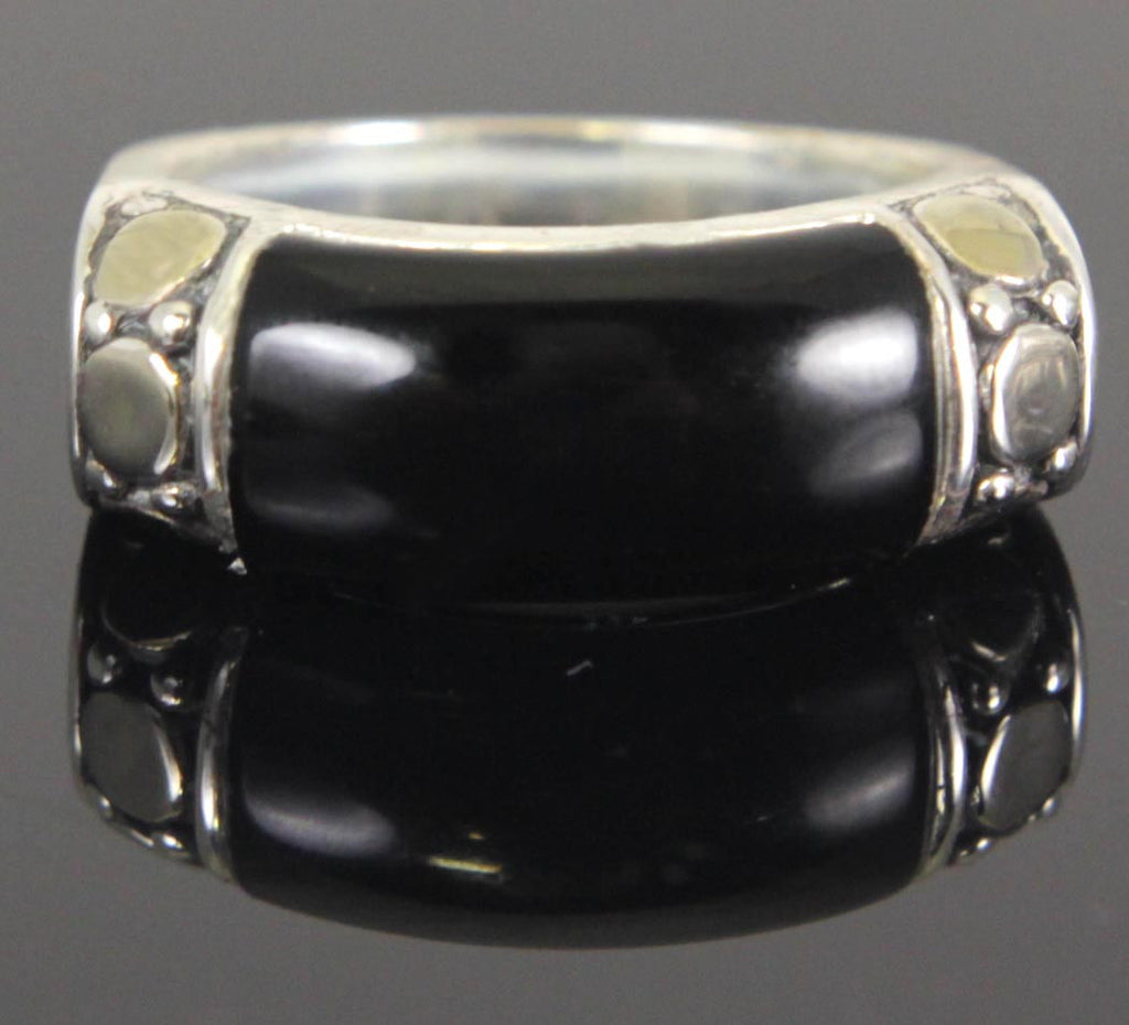 Sterling Silver Onyx Ring Size 7