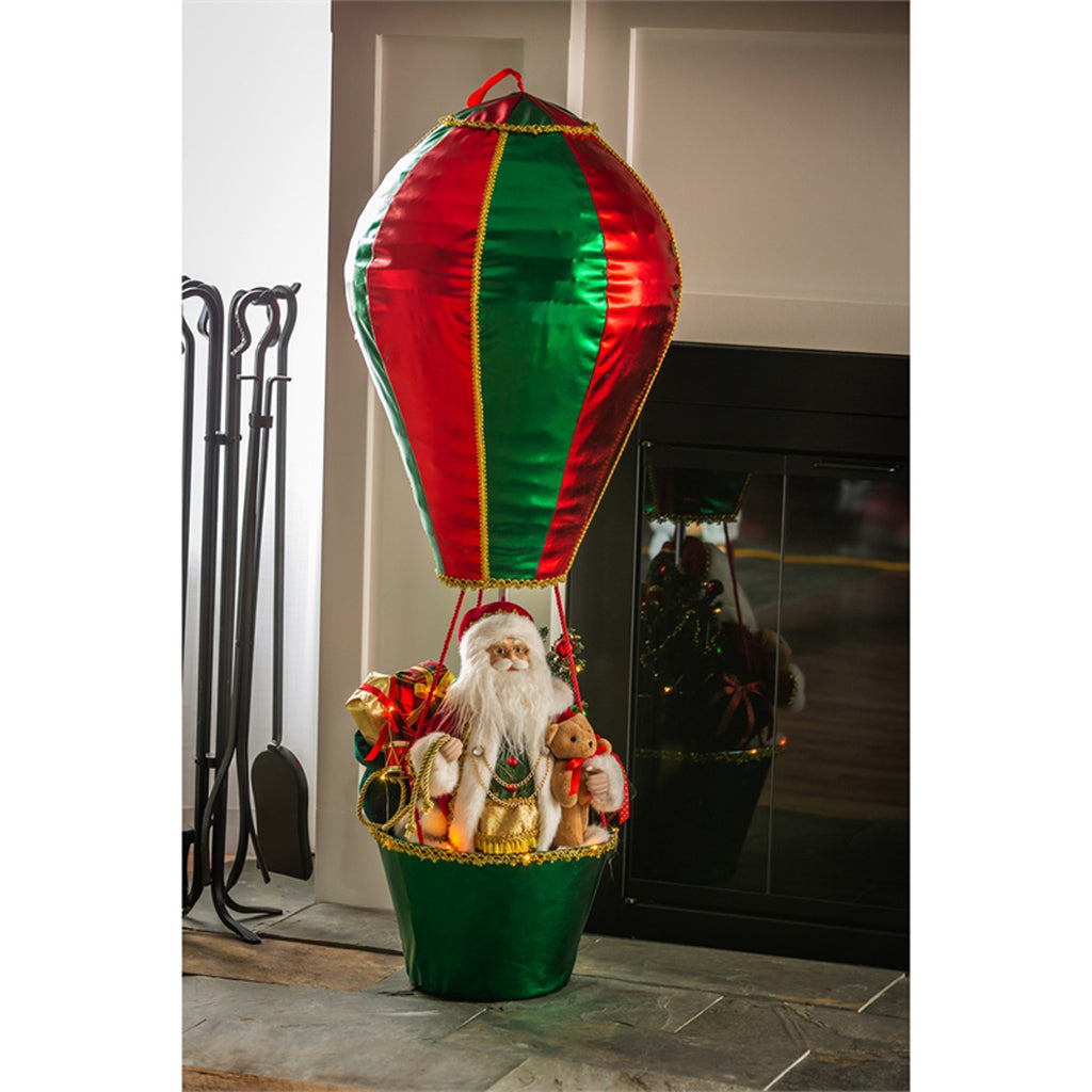 "36"" H LED Musical Decor w/Blinking Lights, Special Christmas Delivery in Hot Air Balloon"