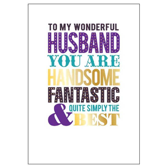 Father's Day Card: To My Husband