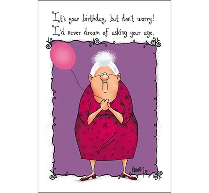 Birthday Card - Asking Age