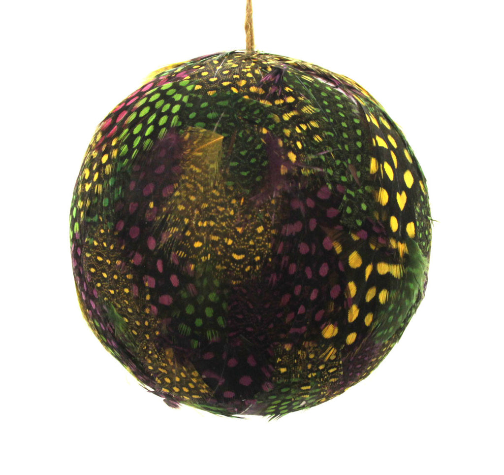 Feathered Ball Ornament