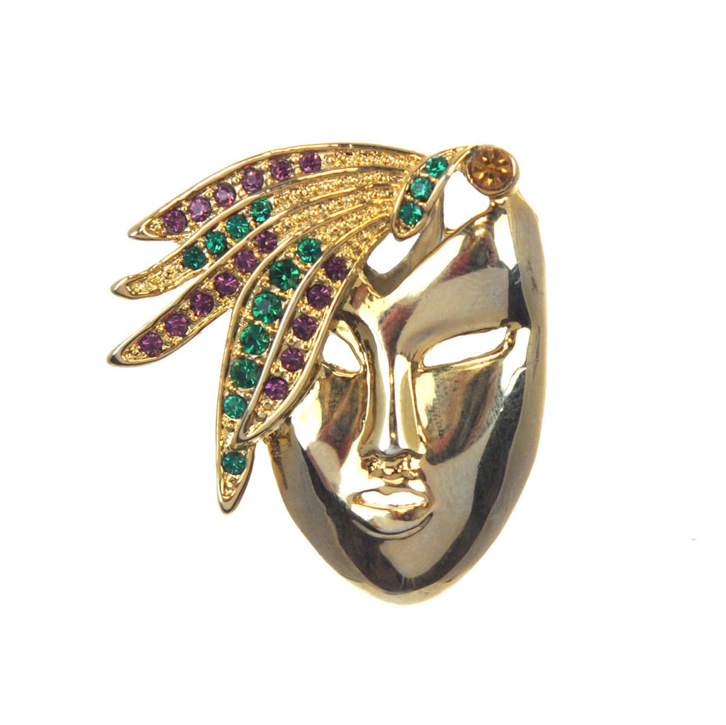 Lady Face Pin Gold