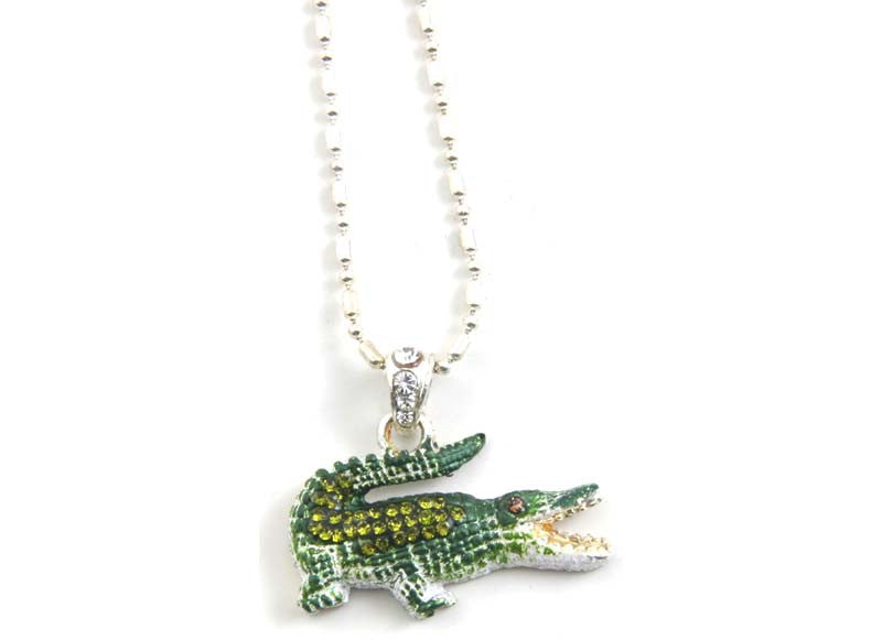 Alligator Necklace Green
