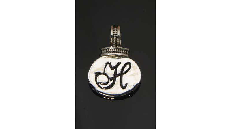 Initial Necklace/Keyring Charm - H