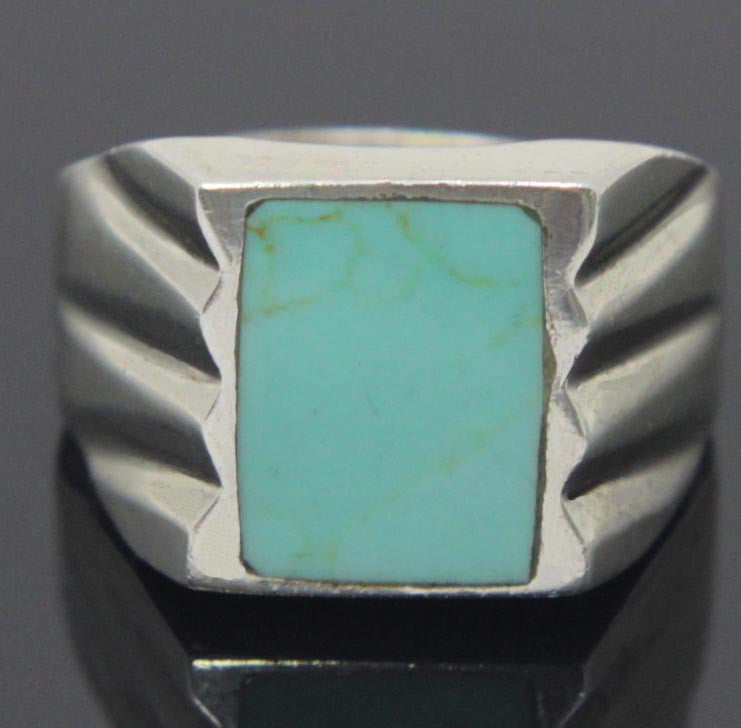 Sterling Silver Turquoise Ring Size 11.5