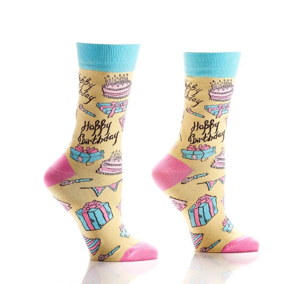 Yo Sox Women's Happy Birthday Design