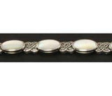Sterling Silver Bracelet Marcasite Mother of Pearl