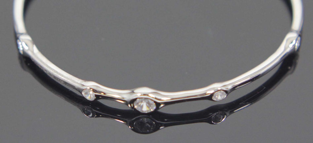 Sterling Silver Zirconia Bangle