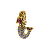 Mermaid Pin Gold, Blue