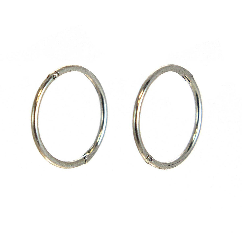Hinged Hoop Earrings 14mm