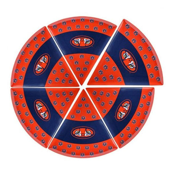 Auburn Tigers Pizza Plate Set