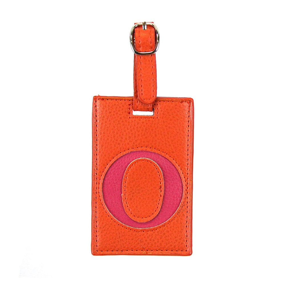 Luggage Tag Initial O Orange
