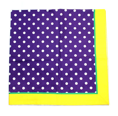 Mardi Gras Party Tablecloth 52 x 52 in. Polkadot