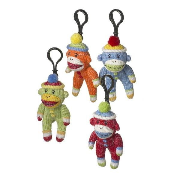 Sock Monkey Clip-on Plush Toys Gift Red