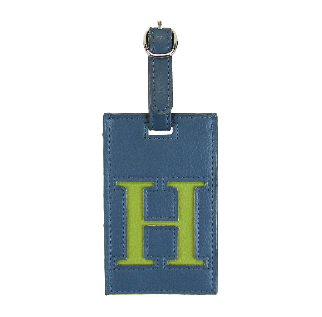 Luggage Tag Initial H Blue