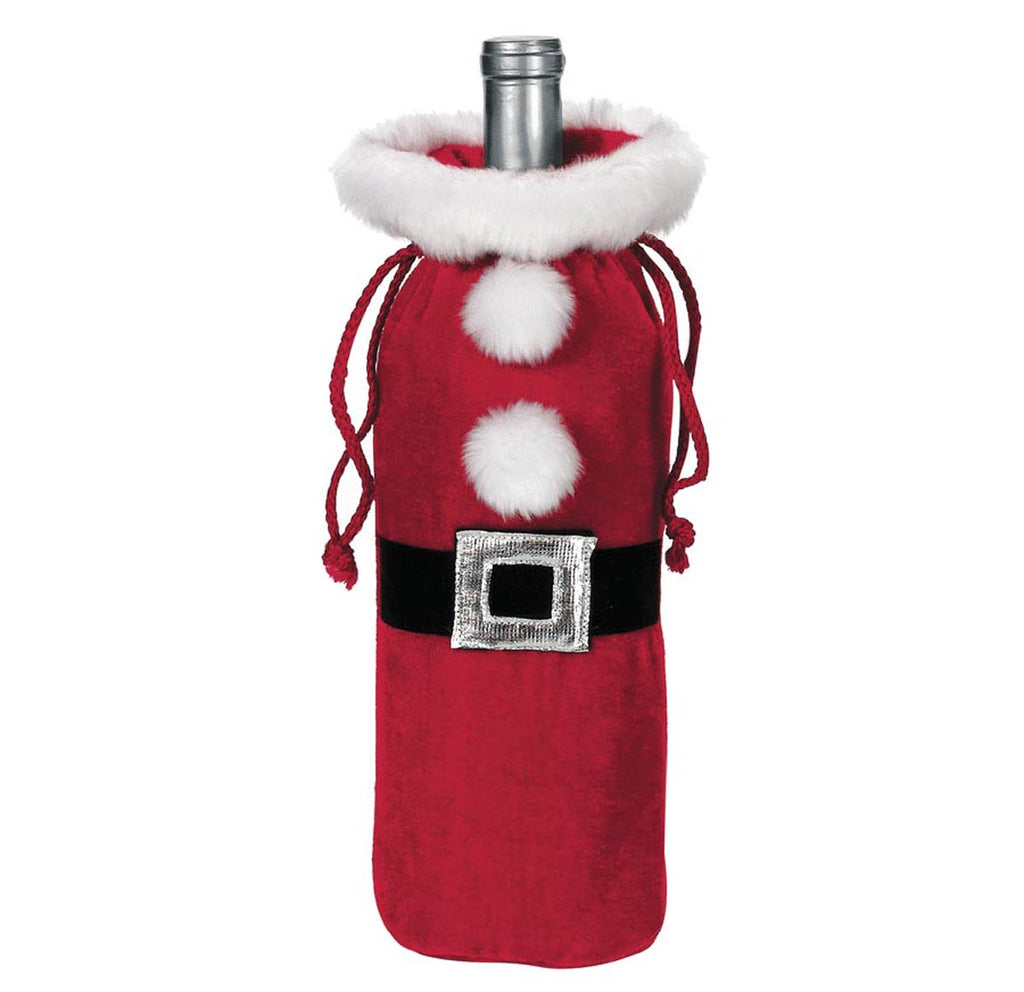 Santa Suit Wine Bottle Bag