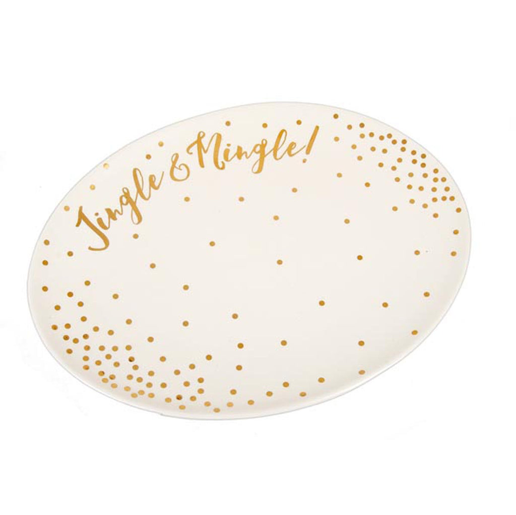 Shiny Christmas Jingle & Mingle Platter