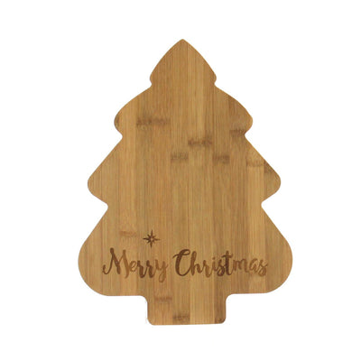 Bamboo Tree Cutting Board - Merry Christmas