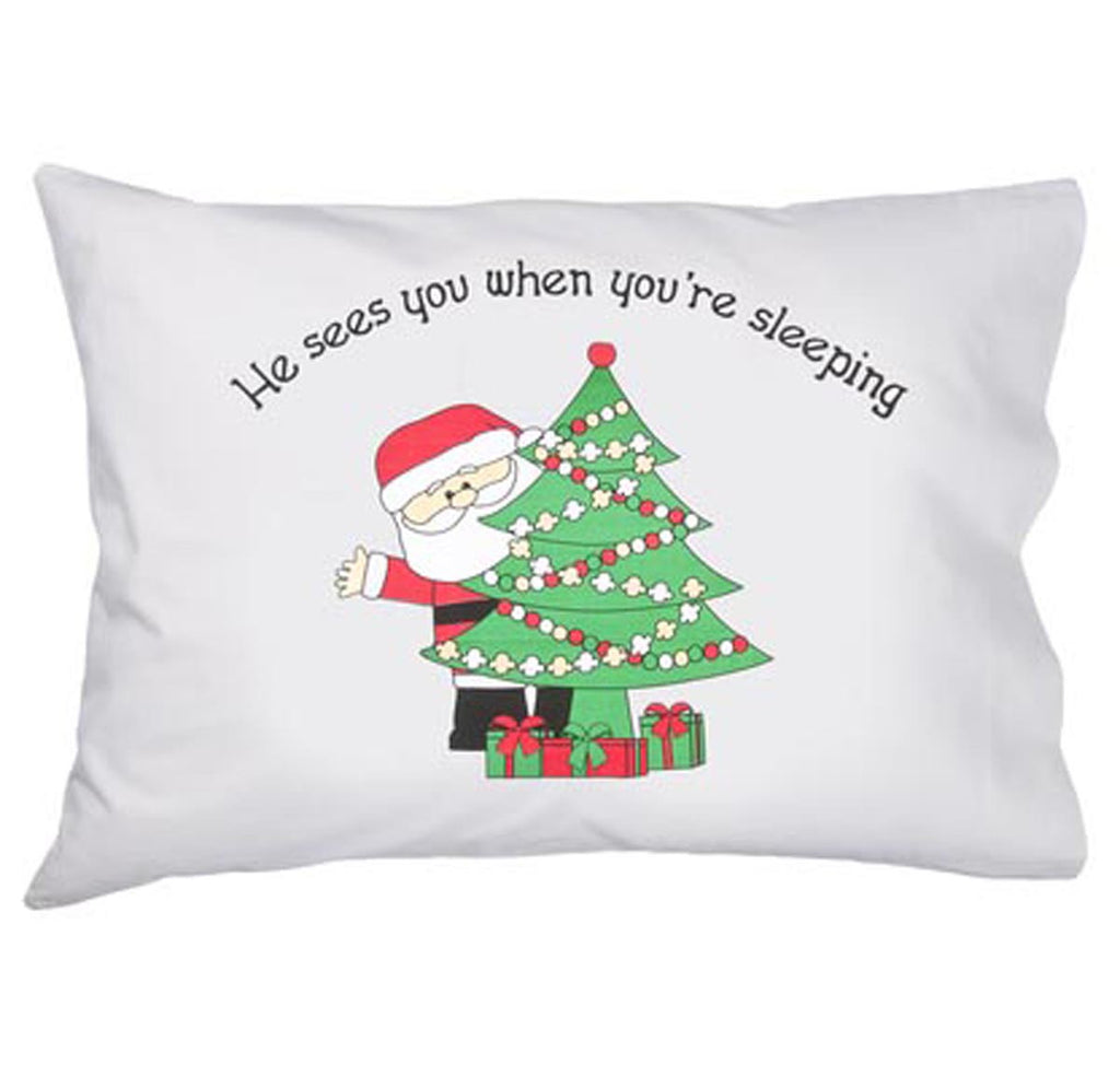 Santa w/Tree Pillowcase