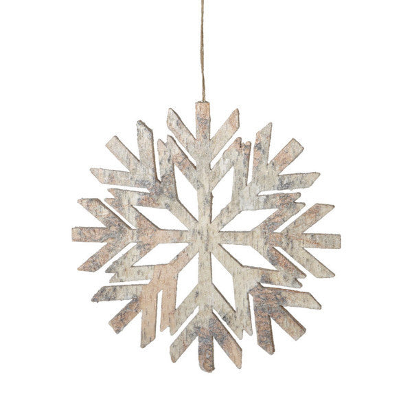 Birch Snowflake Ornament Large