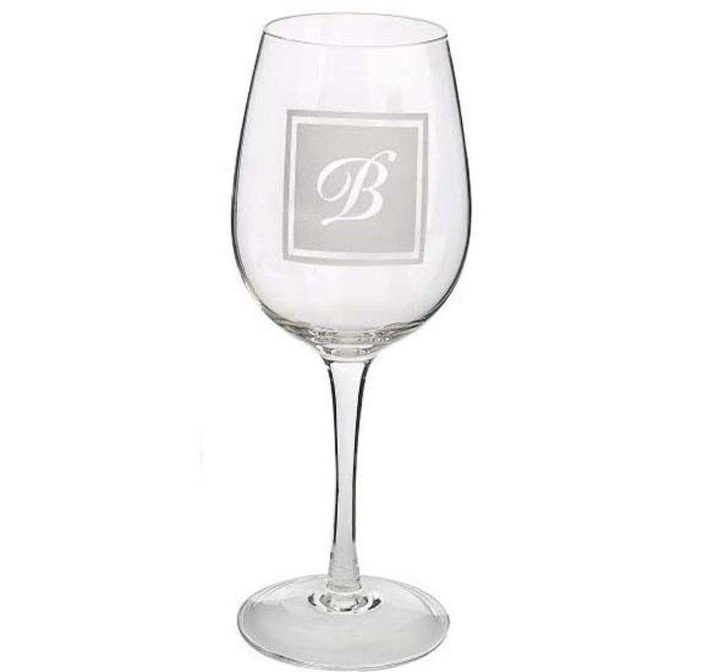 Initial Wine Glass B