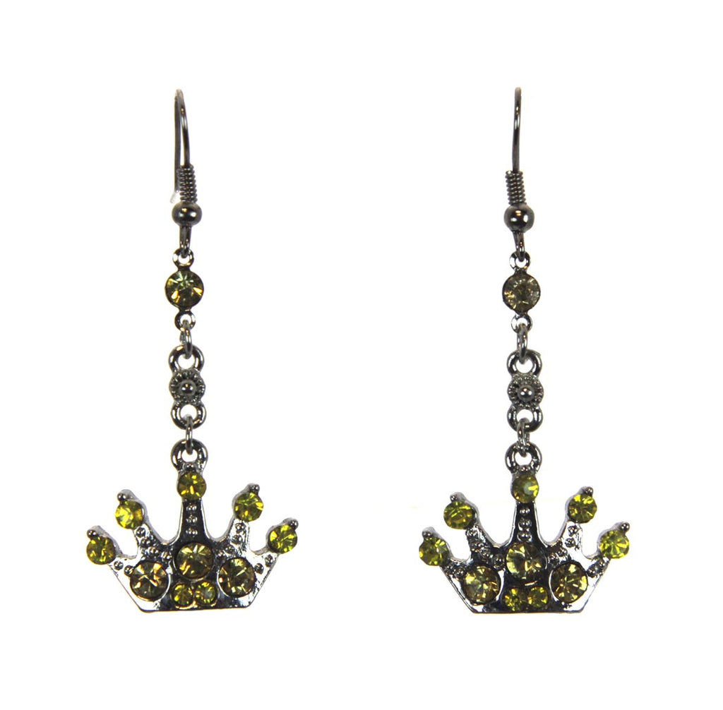 Crown Earrings Citrine