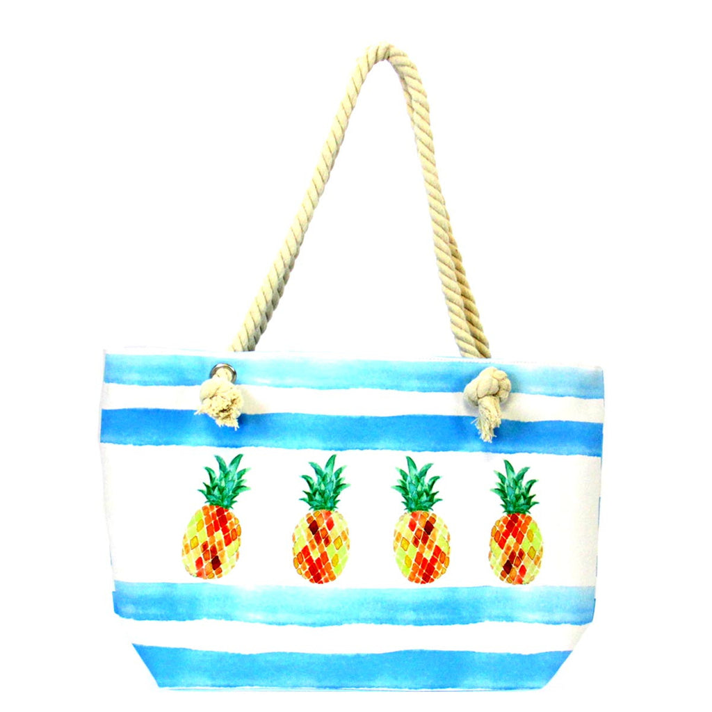 Beach Design Tote Bag - Pineapples