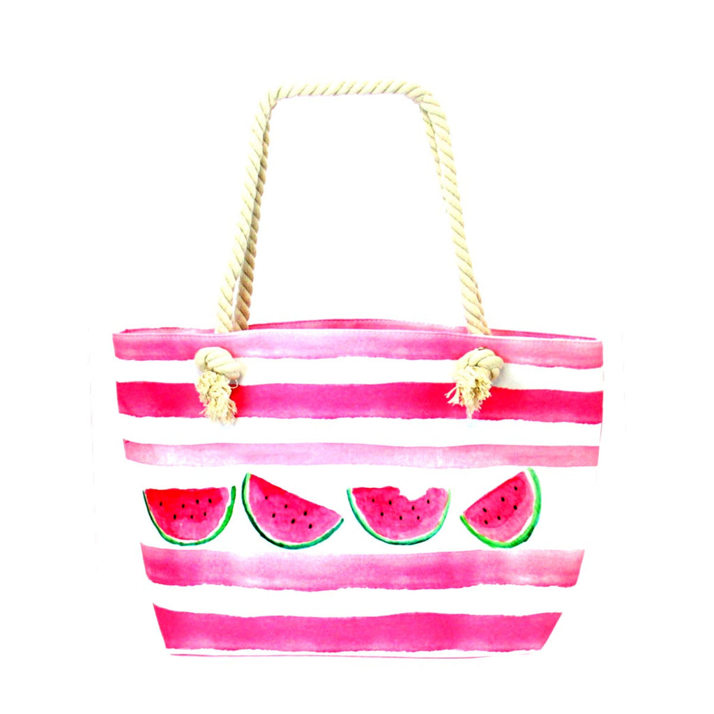 Beach Design Tote Bag - Watermelon