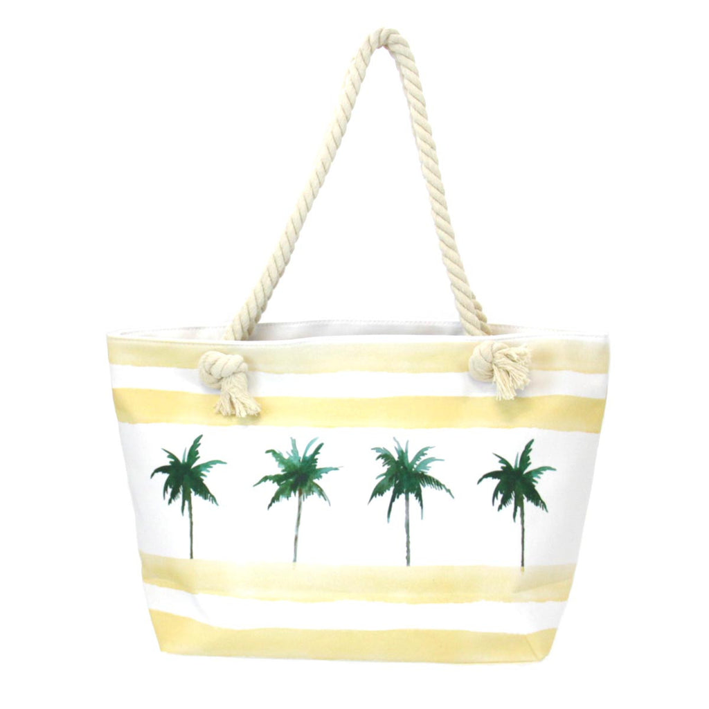 Beach Design Tote Bag - Palm Trees